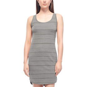 Icebreaker Yanni Combed Lines Tank Dress Women metal/snow